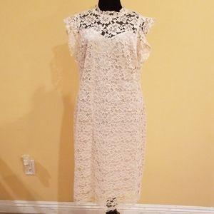 Enfocus Studio Ivory Lace Cocktail Dress Size 14
